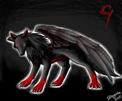red and black wolf with wings. Simple Black Red And Black Wolf With Wings  Photo3 With And Black Wolf Wings H