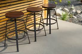 Industrial Style Outdoor Bar Stools Doma Kitchen Cafe