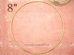What To Use For A Dream Catcher Hoop Craft Ring 100 Dream Catcher Large Metal Hoop Ring Brass From 88