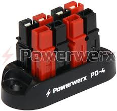 blue sea 5024 st blade battery terminal mount fuse block kit picture of 4 position power distribution block for 15 30 45a powerpole connectors