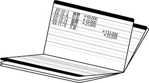 金融機関28 預金通帳 仕事の無料イラスト素材 イラストポップ