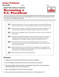 Presidency Chart Abraham Lincoln 16th Answers Jobs Of The President Free Middle School Teaching Resources