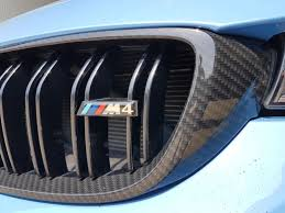 hydro dipped bmw m4 front grill in carbon fibre effect awsmartrepairs bmwm4 bmw