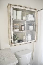 diy antique window cabinet over the