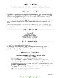 Special Project Manager Resume Points Project Manager Core