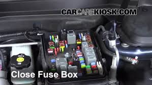 replace a fuse chevrolet equinox chevrolet 6 replace cover secure the cover and test component