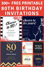 80th Birthday Invitations 30 Best Invites For An 80th