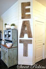 kitchen wooden letters reclaimed wood wall letters maybe i can break out my wood skills kitchen wooden letters