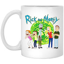 Rick & Morty Family Group Portal with Logo Mug – Superdesignshirt
