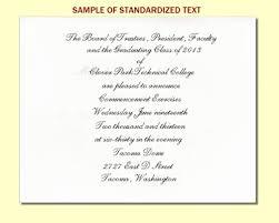 Examples Of Graduation Invitation Graduation Announcement Inserts