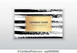 vector gold business card templates with brush stroke background vector design concept for stylist makeup artist photographer stylish elegant business