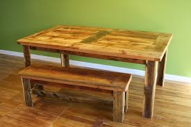 Kitchen Table With Bench Set Wooden Table And Bench Decorating Best Ideas About Farmhouse With