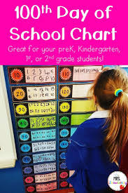 100 Days Of School Chart 100 Days Of School Math Charts