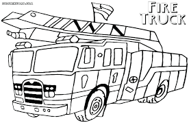 Free Printable Fire Truck Coloring Pages Color Engine Colori Dpalaw
