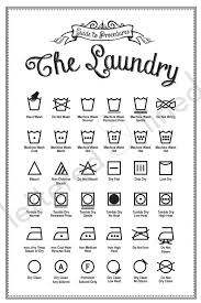 Laundry Symbols Poster Print Guide To Procedures