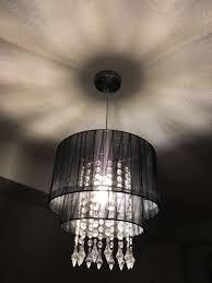 Lampe Kronleuchter Schwarz Glaskristalle In 40721 Hilden