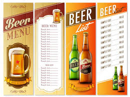 Beer Menu List — Stock Vector © Mollicart #88396392