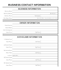 Customer Information Template Customer Update Form Template