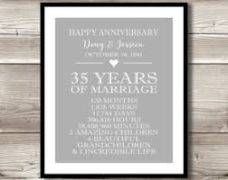 35th anniversary etsy Wedding Anniversary Gifts For Parents 35 Years Wedding Anniversary Gifts For Parents 35 Years #21 Best Anniversary Gift for Parents