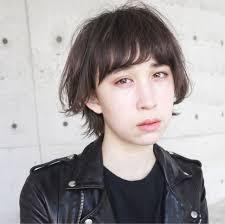 アッシュ 前髪あり ショートボブ ウルフカットloave Aoyamaローブ