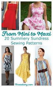 Sundress Patterns Awesome 48 Summery Sundress Sewing Patterns