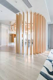 room dividers living. This Contemporary Apartment Has A Lot Of Elements Nature Throughout, Including The Wooden Space Divider Between Dining And Living Areas. Room Dividers .