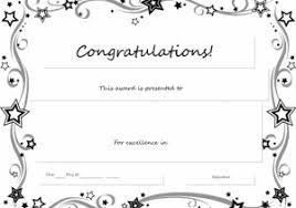 Congratulation Certificate Congratulations Certificate Templates For Word Sample