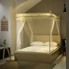 zipper square mosquito net for double bed queen size canopy bed net ...