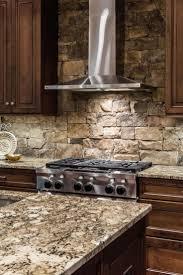 stone veneer kitchen backsplash. Bright Stone Kitchen Backsplash With Modern Stove Veneer E
