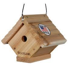 Birdhouse Woodlink Cedar Traditional Wren Bird House Wren2 The Home Depot