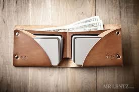 bifold wallet tan leather wallet