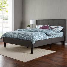Platform Bedroom Furniture Amazoncom Zinus Upholstered Square Stitched Platform Bed With