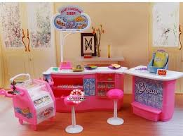 Plastic Play Set Candy And Ice Cream Shop Gift Set Doll