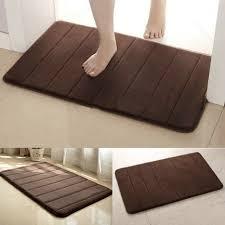 modern bathroom rugs brown