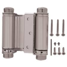 Swing Hinges Everbilt 3 In X 3 In Satin Nickel Double Action Spring Door