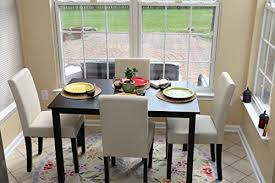 4 person table and chairs ivory dining dinette ivory parson chair return to previous page lightbox lightbox lightbox
