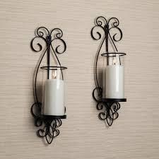danya b san remo black candle wall sconce set of 2