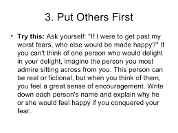 tips for a fearless life  7 3