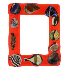 fanciful photo frame 5x7 in lampworked glass 2