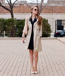 banana republic black trench coat dress merona heels loft sunglasses tory