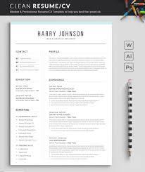Resume Template Modern Professional Resume Template For Word Cv Resume Cover Letter