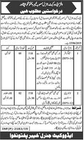 Genral Office Advocate General Office Peshawar Jobs May 2019