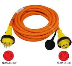 conntek 20501 25ft 20a 4 prong generator outlet splitter cord conntek l5 30p to l5 30r 30amp shore power extension cord