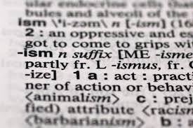 new york merriam webster declares ism as word of the year for  the suffix ism is photographed in merriam webster s collegiate dictionary in new