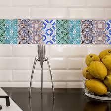 Kitchen Tile Decals Stickers Portuguese Tiles Stickers Maceira Pack Of 16 Tiles Tile Decals