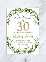 printable 30th birthday invitation
