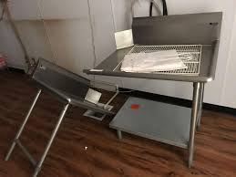 Lot Stainless Commercial Kitchen Work Table Proxibid Auctions