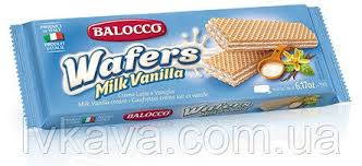 <b>Вафли Balocco</b> Snack <b>Milk</b> Vanilla , 45 гр оптом от LV кава
