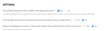 job application questions how do i send an eeo survey to candidates who didnt apply through