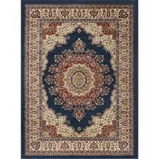 sensation navy 11 ft x 15 ft transitional area rug